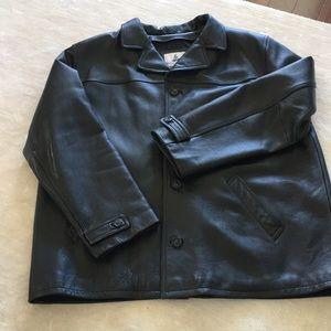 Men's Size 3XLT Leather Coat Excellent Condition
